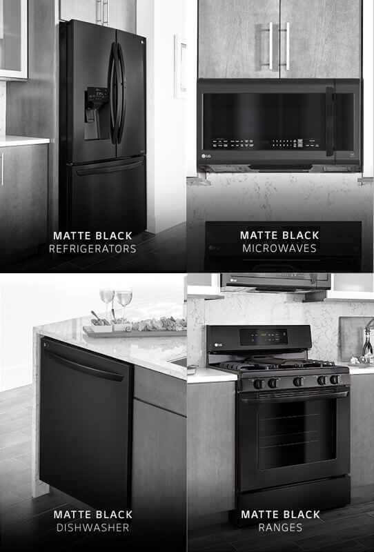 LG MATTE BLACK Kitchen Package